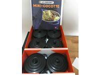 Le Creuset Mini Cocotte Casserole Dishes x 6 - In box with recipe book