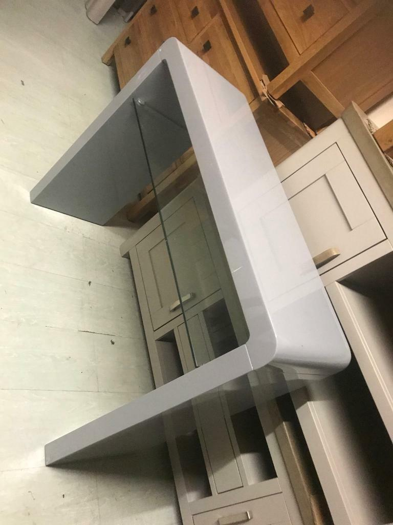 Grey High Gloss Console Table
