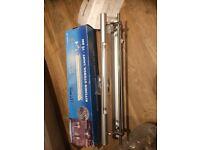 Kitchen utensil rack with mini strip light