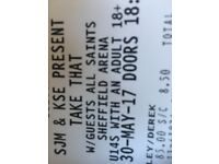 Take That tickets - Sheffield Tuesday 30th May