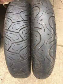 Tyres for motorcycle
