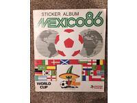 Mexico 86 World Cup Panini Sticker Album - complete