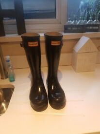Hunter high gloss wellies size 1 immaculate unisex