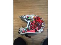 Motor cross motor bike helmet
