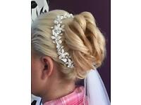 Beaded and Swarovski hair vine