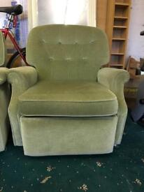 3seater sofa, 2x recliners
