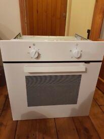 white ikea single intergrated oven