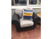 Conservatory sofa and 2 arm chairs