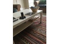 Large Ikea Lack coffee table in white