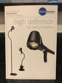 Good condition tall reading lamp