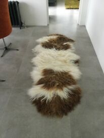 Milabert Large double sheepskin rug brand new never on a floor