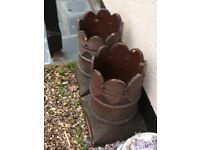 2 x Victorian Chimney Pots in good Condition