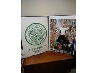 2 x celtic pics in frames