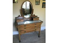 Antique Dressing table And bed side table