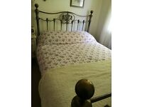 Spanish style metal frame King size bed