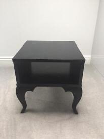 Ikea Black bedside/side table