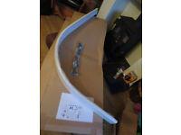 Offset quadrant shower tray riser kit