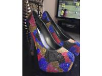 Size 6 Steve Madden diamonte heels