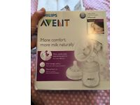 PHILLIPS AVENT natural manual breast pump - unused with box.