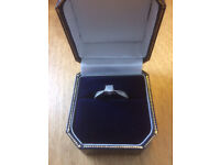 Ring for sale - 9 carot white gold with 0.2 diamond setting. Size I