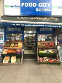 Shop for sale Finsbury Park 24/7 grocery store