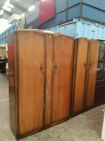 Vintage double and single wardrobes