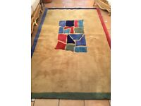 Handcrafted large rug