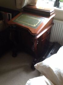 Small Hand-carved Bureau - Great Quality