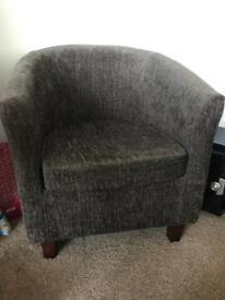 Maurice Mocha Chenille Tub Chair