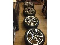 E90/e46 genuine alloy wheels 18inch