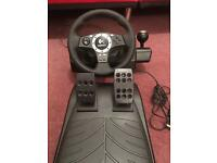 Logitech feedback steering wheel and pedals