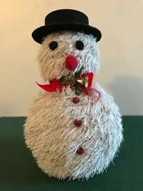 Christmas snowman figure