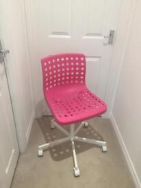 Pink IKEA chair brand new