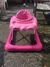Pink Graco baby walker
