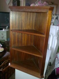 VINTAGE CORNER UNIT, SHELVING/ DISPLAY SHELF..SOLID..REDUCED!!