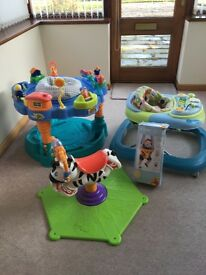 Baby bouncer, walker, play centre & disney bouncing tigger seat