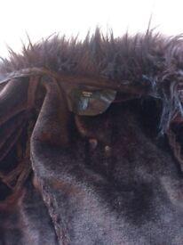 Joanna Hope Ladies faux Fur/leather jacket size 14