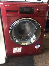 BEKO red good looking 9kg 1400spin washing machine cheap