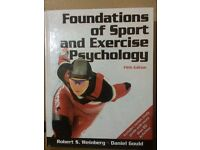 Foundations of sport and exercise psychology weinberg 5th edition- Hardcover New no ripped pages