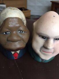 Buy a piece of history! Nelson Mandela & F.W.De Klerk salt & pepper set.