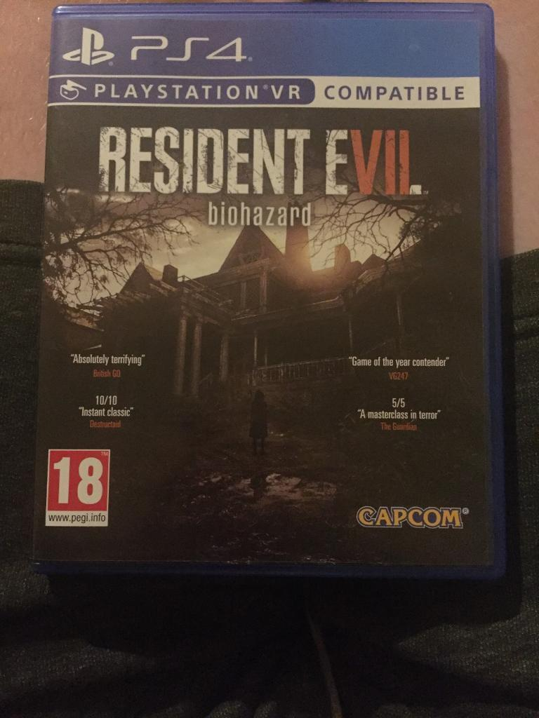 RESIDENT EVIL 7BIOHAZARDin Whitechapel, LondonGumtree - BASICALLY BRAND NEW PLACED ONCE £25WHITECHAPEL/LIMEHOUSE AREAWILL MEET IF CLOSE BY07930289768