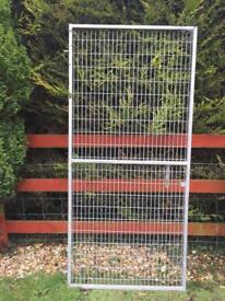Galvanised gate and panel