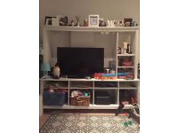 nice tv unit with loats of storage