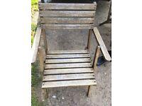 4 wooden fold up garden chairs
