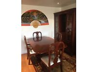 Dining table x4 chairs &a china cabinet