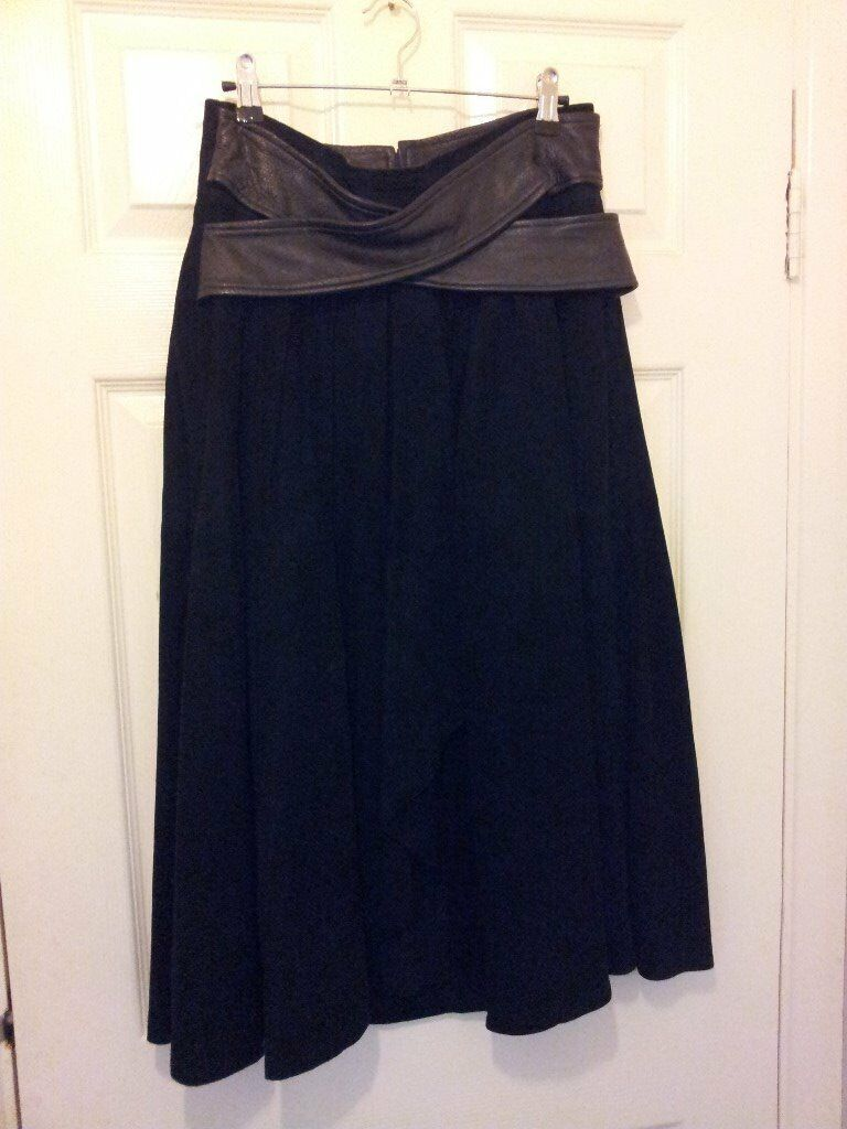 Shop stock for salein Notting Hill, LondonGumtree - I am selling former shop stock of ladies Italian vintage wear. Suede black skirt with leather sash waist detail. Excellent quality and condition. Size 12/14 and is knee length with back zip. Beautiful item. 2 black jackets, one is cropped with...