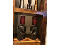 Wooden candles holders