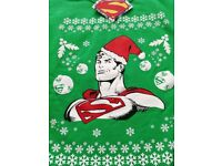 Mens BNWT Green Superman Christmas Jumper M & L