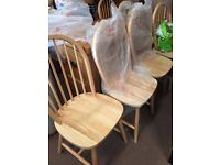 brand new-pine chairs-20 pounds each-