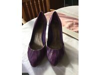 Size 8purple kid leather/suede shoes